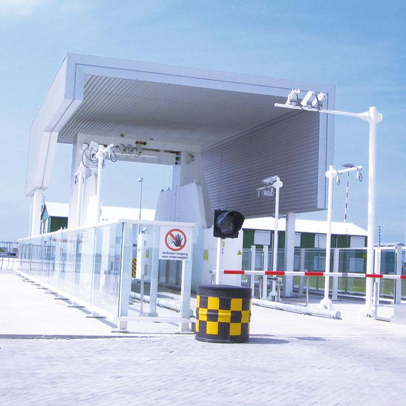Estacion de inspeccin de carga vehiculos Nuctech